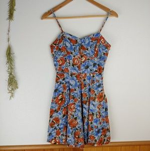 Jack BB Dakota Poppy Floral Print Mini Dress